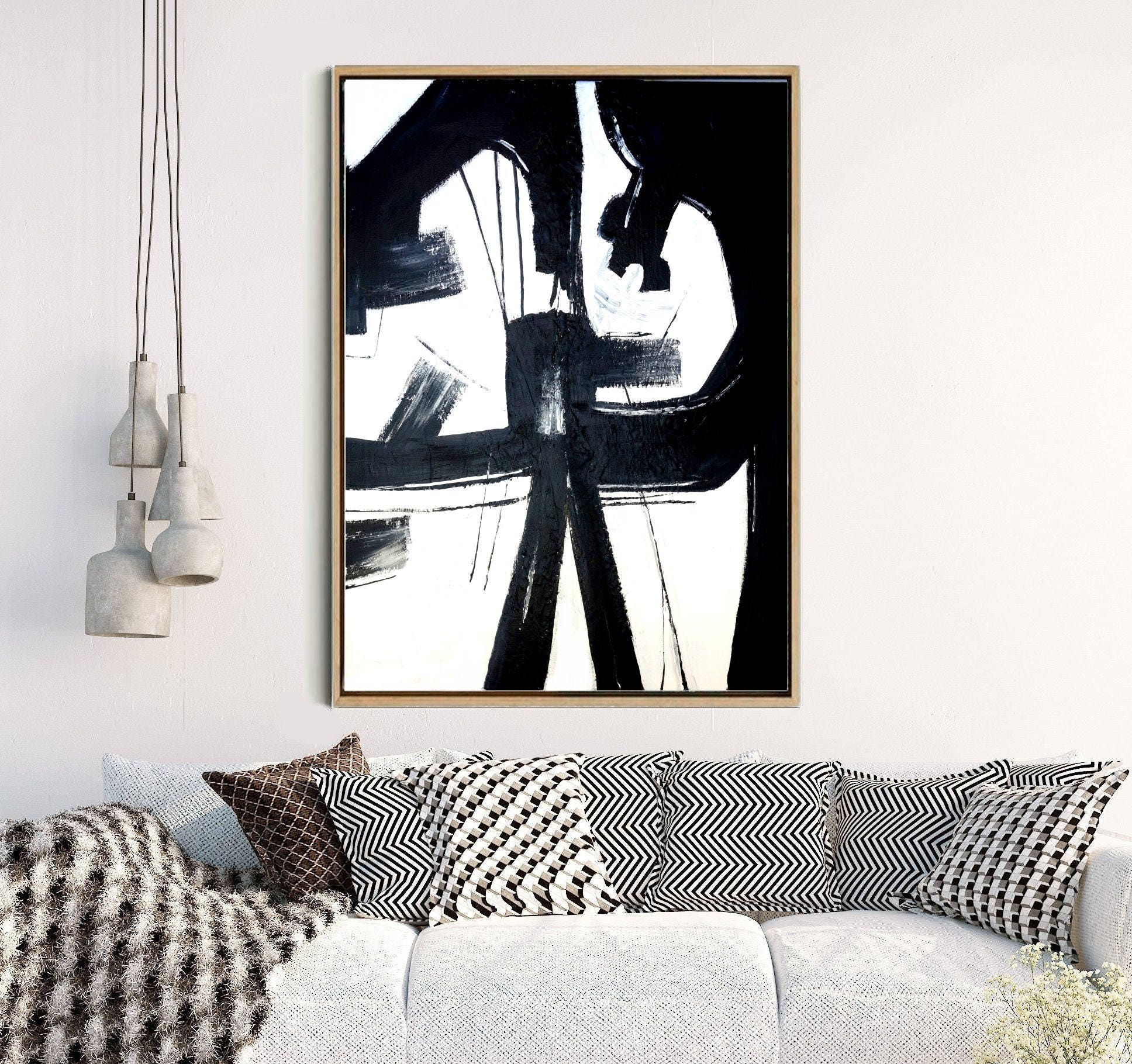 Abstract wall art abstract art print black and white zoom amipublicfo Image collections