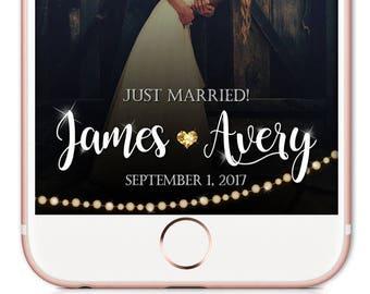 Wedding Snapchat Filter, Wedding Snapchat Geofilter, Bride Geofilter, Snapchat Filter, Champagne Wedding Geofilter, Snapchat Geofilter