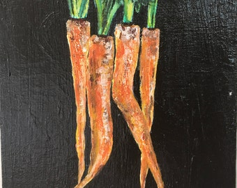 Carrots Painting, Canvas, Art