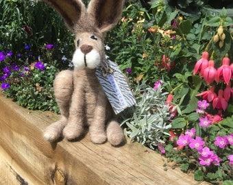 Heath the bespoke needle felted Hare