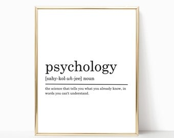 Psychology Definition Print, Psychologist gift, Funny Definition Print, Gift for Psychologist, Psychologist Appreciation, DIGITAL DOWNLOAD