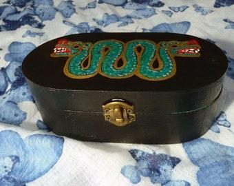 Double Headed Serpent Trinket Box