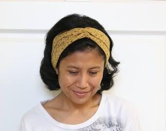 Twist Headbands For Women, Ocher Headband, Bohemian Headband, Twist Headbands,  Hippie Headband For Women, Turban Women Headband, Haarband