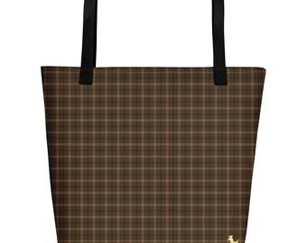 Royal Brown Tote Bag