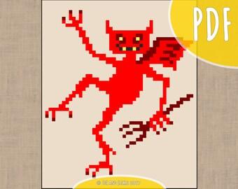 Little Devil - Cross Stitch Pattern (PDF Download)