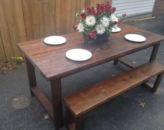 Rustic Dining Room Table (Bench Included)