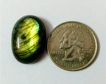 30.51 x 16.34 mm,Ovel Shape Labradorite Cobochon/Green Flash/wire wrap stone/Super Shiny/Pendant Cabochon/Semi Precious Gemstone/labradorite