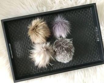 Handmade Faux Fur Pom Poms