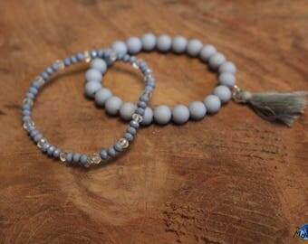 Set of 2 beads bracelets