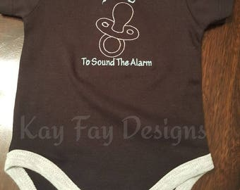 Infant Pull to Sound Alarm Onsie