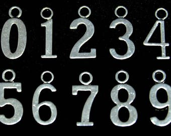 Add On Number Charm/Add a Personalized Charm/Add On/Customize/Number Charm/Add a Number/Number/Charm