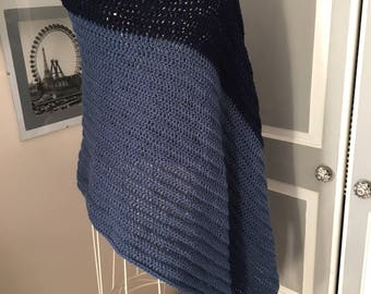 Gorgeous Soft Crocheted Poncho/Wrap