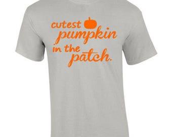 T-Shirt Cutest Pumpkin Fall Season Harvest Thanksgiving Custom Shirt & Ink Color