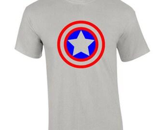 T-Shirt Captain America Comic Superhero Avengers Custom Shirt & Ink Color
