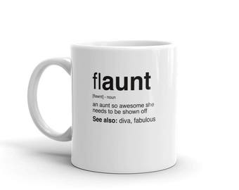 Aunt Gift Mug, Super Auntie Mug, Flaunt, Funcle Counterpart, Funny Gift for Aunt, Auntie Gift, Best Aunt Ever Gift Mug