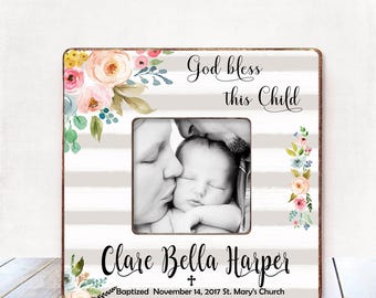 Baptism Gift GIRL Christening Gift GIRL Personalized Picture Frame Baptism Gift for Goddaughter Gift Goddaughter Baptism Gift Christening 36