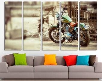Motorcycle art Motorcycle canvas Motorcycle wall art Motorcycle decor Motorcycle photo Motorbike photo Motorbike print Motorbike wall art