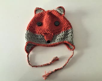 crochet Beanie: Fox (crochet fox hat)