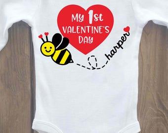 1st valentines day, first valentines day, valentines day shirt, valentines outfit, valentine shirt, my 1st valentines day, 1st valentines