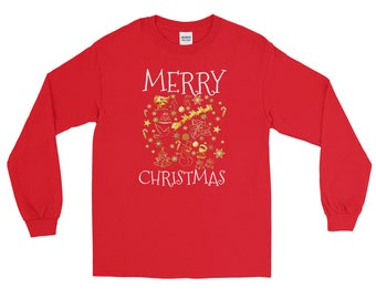 christmas t shirt boys, christmas t shirt for boys, christmas t shirt for men,  christmas t shirt for kids, christmas t shirt kids, Long Sle