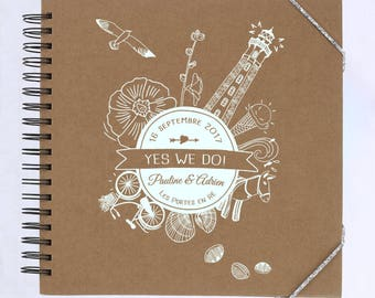 Guestbook hand printed by screen printing / has to associate with special Collection