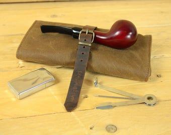 Tobacco Pipe pouch/cigarette case/smoking Accessories/pipe case/Tobacco Case/Moleskine case/Passport case.
