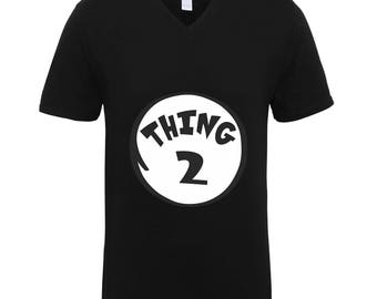Thing 2  Shirts Adult Unisex Men Size V Neck Best Seller T-Shirts Couple Goals