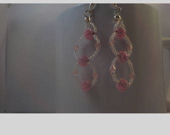 Pale pink chainmaille with Swarovskik crystals