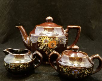 Vintage 3-Piece Teapot Set Made in Occupied Japan