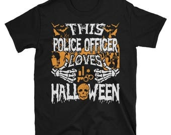 This Police Officer Loves Halloween UNISEX T-Shirt Gift for Policemen