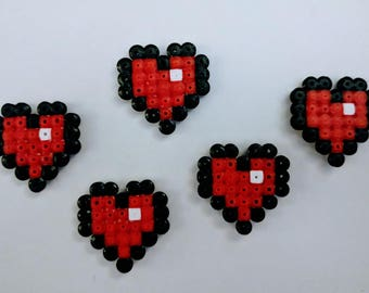 Zelda hearts with magnet of iron beads, fridge magnets, magnets