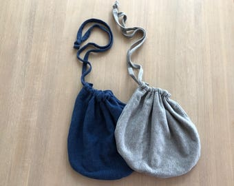 Recycled Drawstring Pouch Bag, Hood Drawstring Bag, Canvas Drawstring Bag, Gifts for Teen Girl, Recycled Gifts