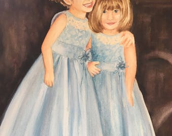 Custom Watercolor Portrait - Additional Children