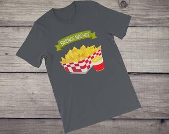 Buenos Nachos T-Shirt funny Mexican Food texmex cheese Short-Sleeve Unisex T-Shirt tshirt tee