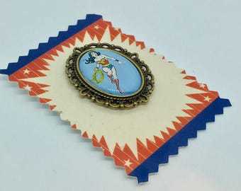 Wonder Woman blue brooch