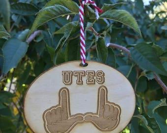 University of Utah Utes Christmas Tree Ornament