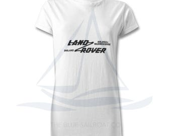 Ladies Land Rover Defender 90 Badge T Shirt, Novelty T-Shirt, Cars, Novelty Gift, Defender T-Shirt, Land Rover T-Shirt Adults