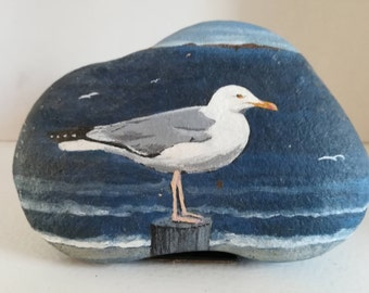PAINTING of GULL rock