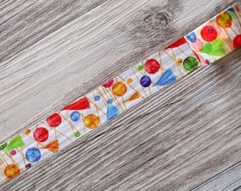 balloon washi tape,colorful Washi Tape,tassel washi tape,watercolor washi tape,party washi tape,japanese washi tape