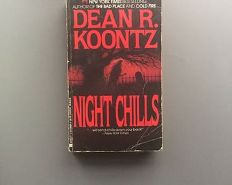 Night Chills by Dean Koontz, Used, Vintage
