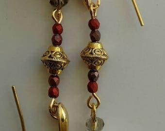 Drop dangle earrings in river Stone