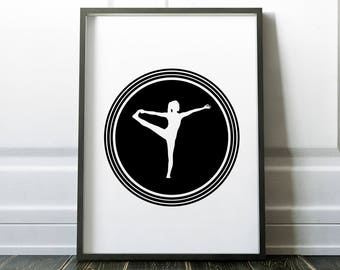 Yoga Print, Yoga Wall Art, Yoga Printable, Minimalist, Yoga Art, Yoga Poster, Yoga Pose, Yoga Studio Decor, Digital print, Instant Download