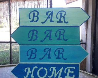 """Bar """"decisions"""" sign"""
