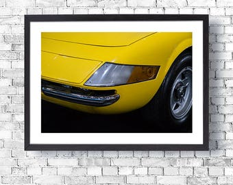 Classic Car Print Wall Art Print Home Decor Office Decor Ferrari 365 GTB Daytona