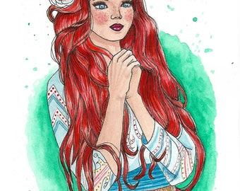 Print, watercolor illustration, postcard, prints, illustration, original design, A3, A4, A5 and A6 size, gift, present, decor, Deco