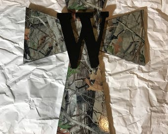 Camo Cross with Initial