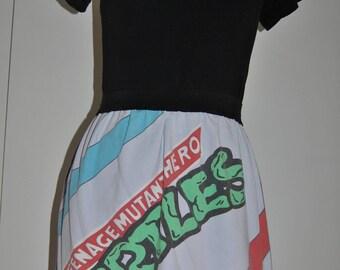 Vintage A-line Skirt in Teenage Mutant Ninja Turtles fabric Size 36