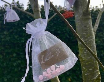 The 'Leila' Handmade semi precious rose quartz and silver earrings.