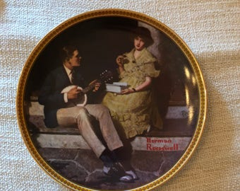 Pondering on the Porch by Norman Rockwell - Collector Plate
