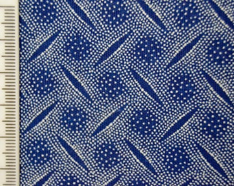 Shweshwe - South African Cotton - Snowfall - Blue and White.
